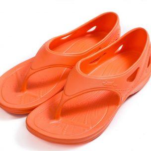 ํYsandal with heel strap-orange
