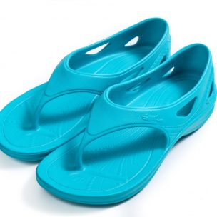 Ysandal with heel strap-fresh blue